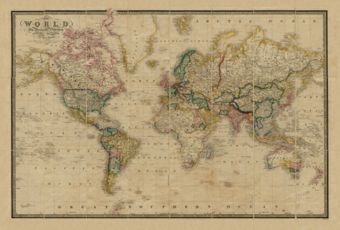 World map, c. 1861